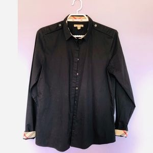 Burberry BRIT black button down shirt